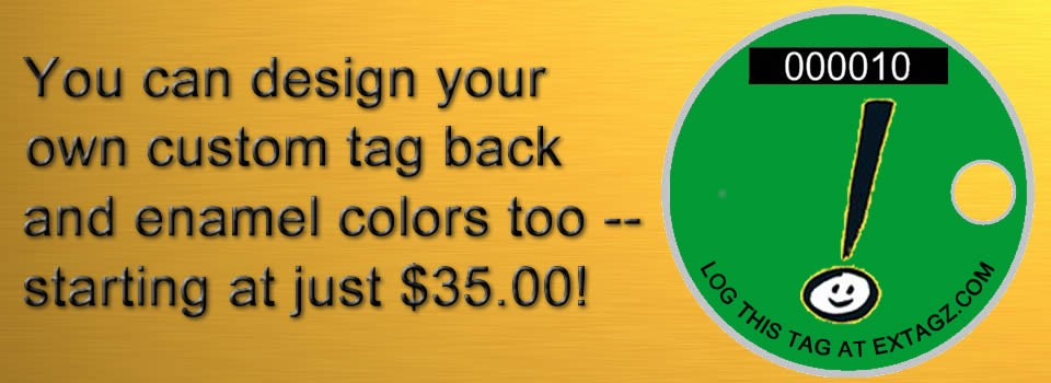 You can design your own back - and enamel colors too!